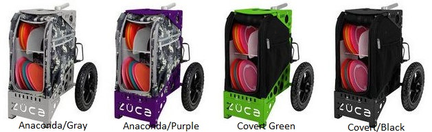 zuca disc golf cart colors - a